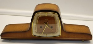 1950s Hermle German 8 Day Mantel Clock